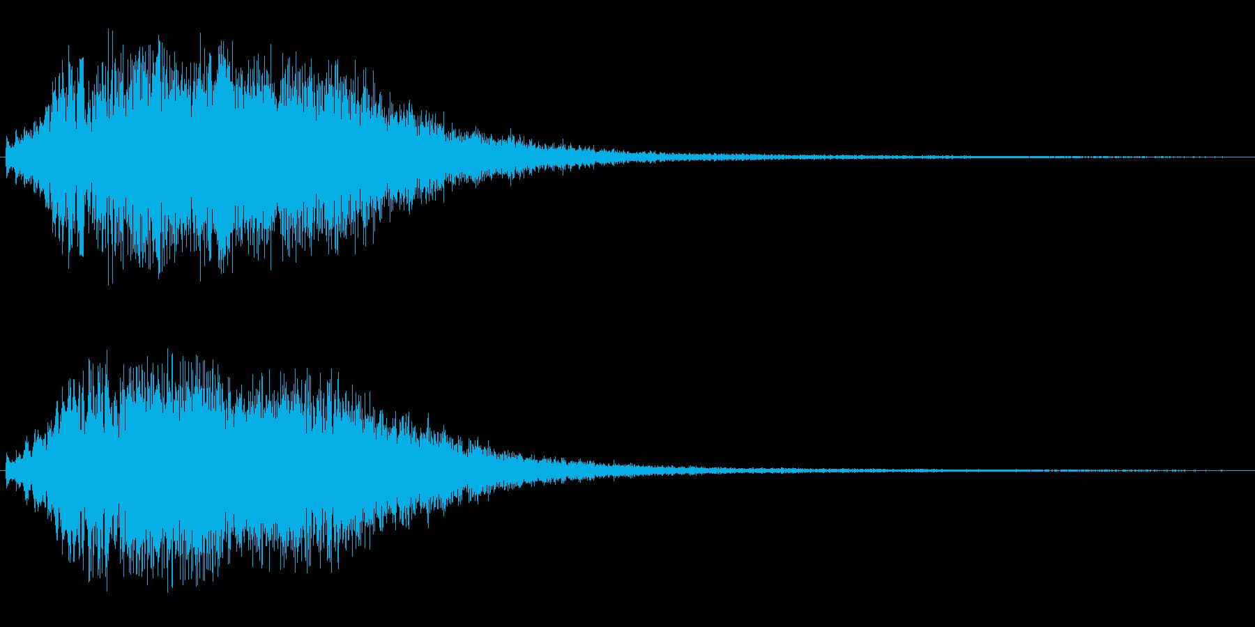 キラキラアップ(響きあり)の再生済みの波形