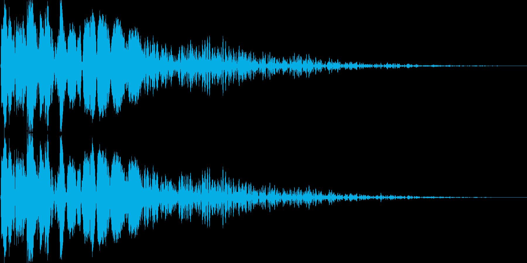 [打撃]必殺技・強力な物理攻撃の再生済みの波形