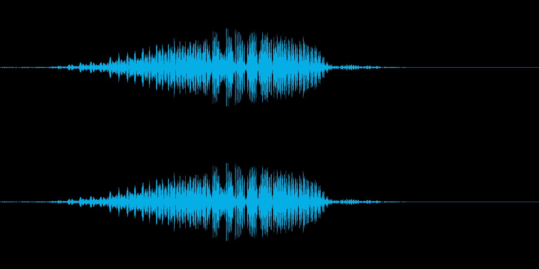 ぃよ!! - 男性和風掛け声の再生済みの波形