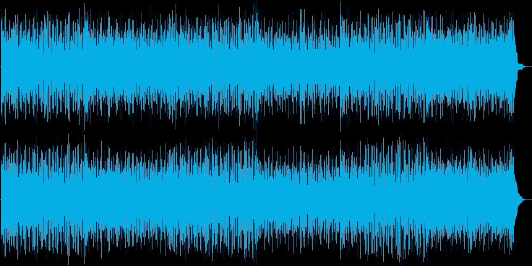 コード弾きが展開されるポップなシンセ曲の再生済みの波形