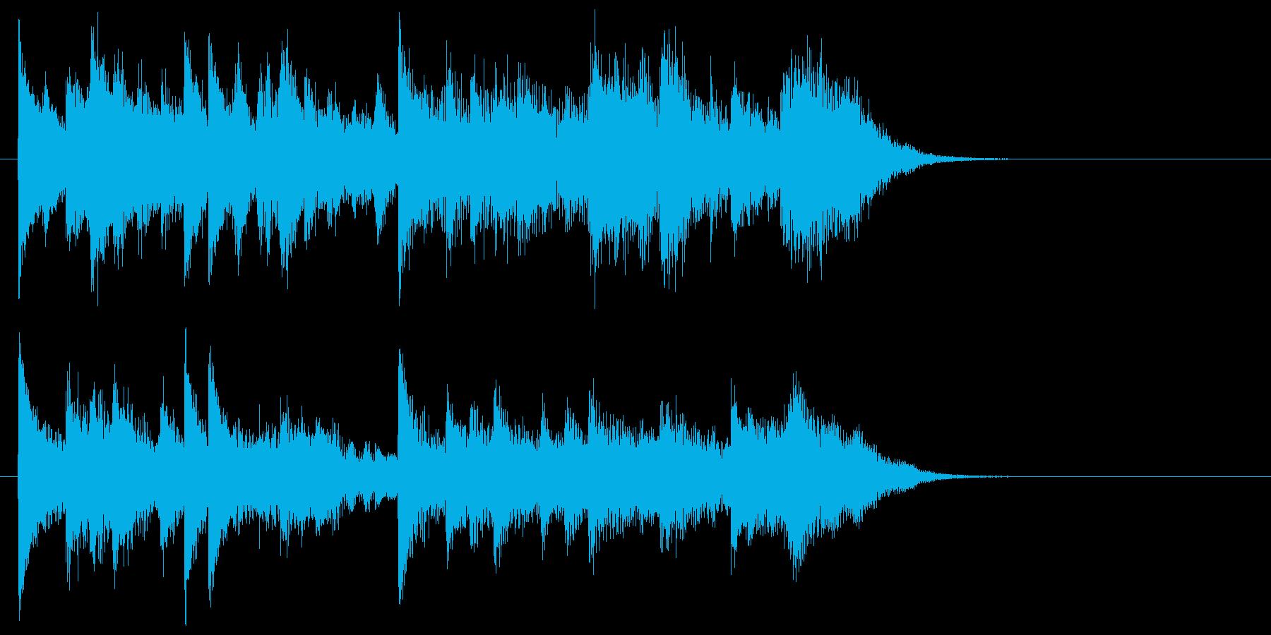 緩やかで可憐なピアノジングルの再生済みの波形