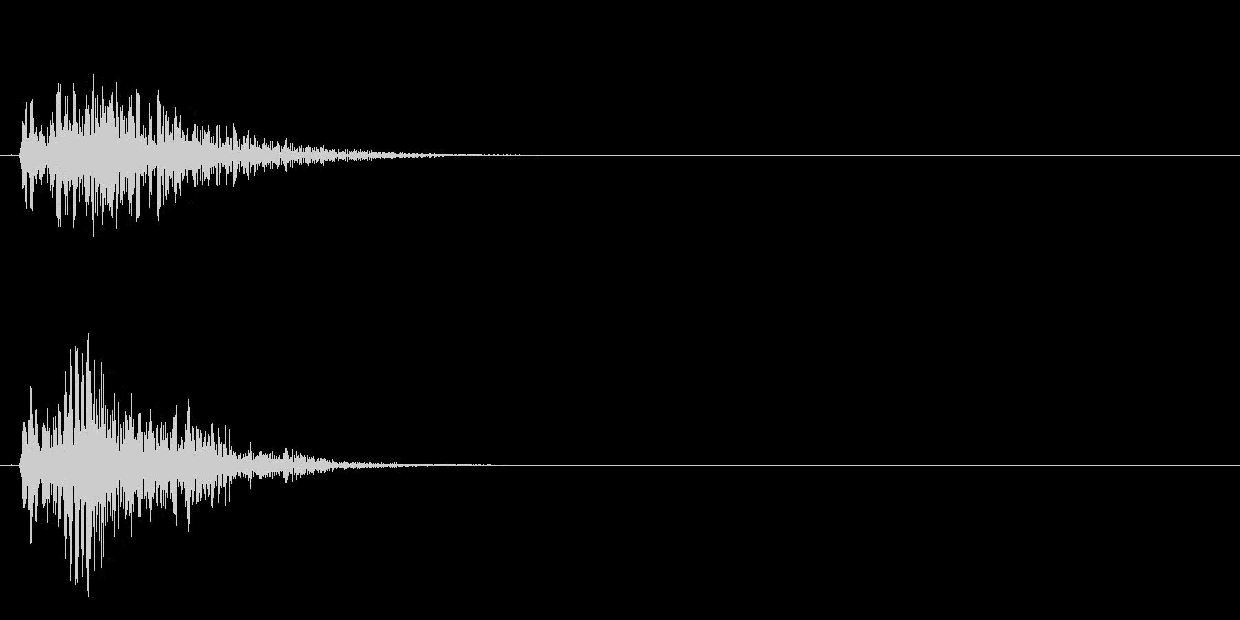 ダダーン! 発射音  爆発音  場面転換の未再生の波形