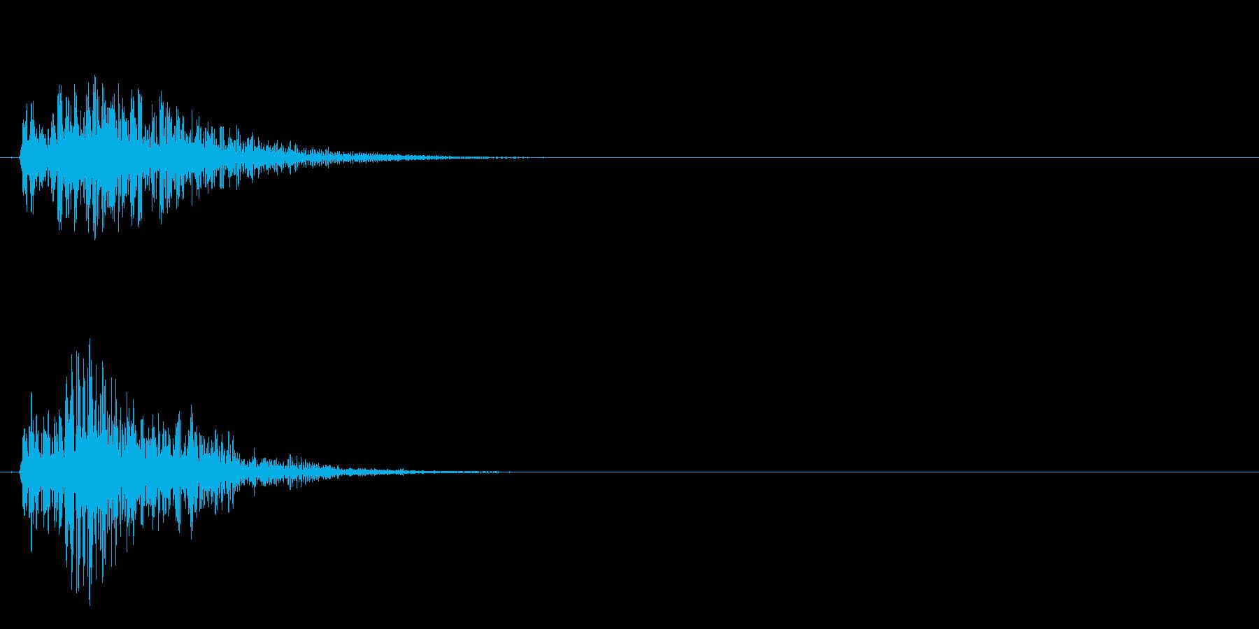 ダダーン! 発射音  爆発音  場面転換の再生済みの波形