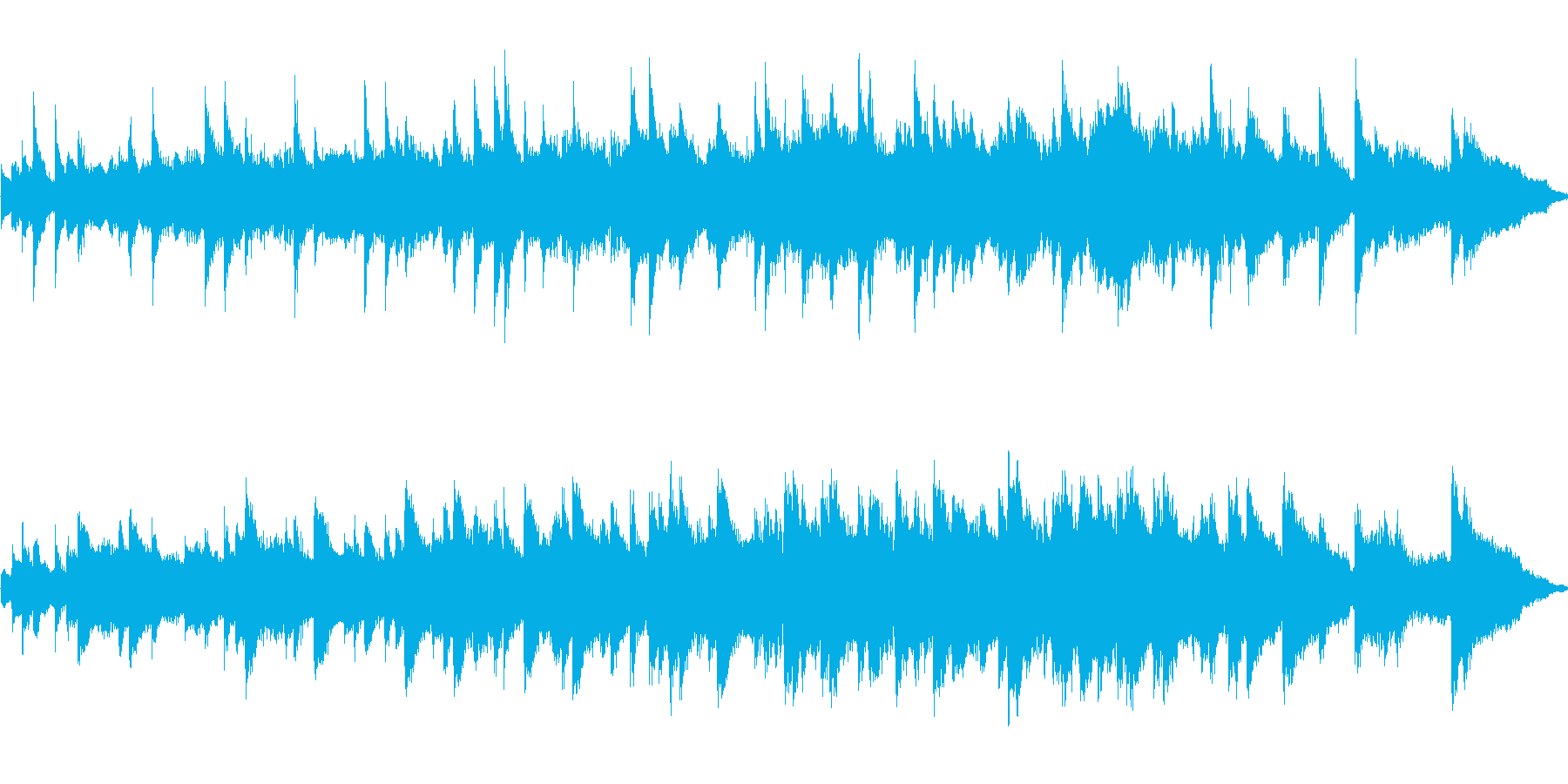ピアノの旋律が綺麗なクラシックの再生済みの波形