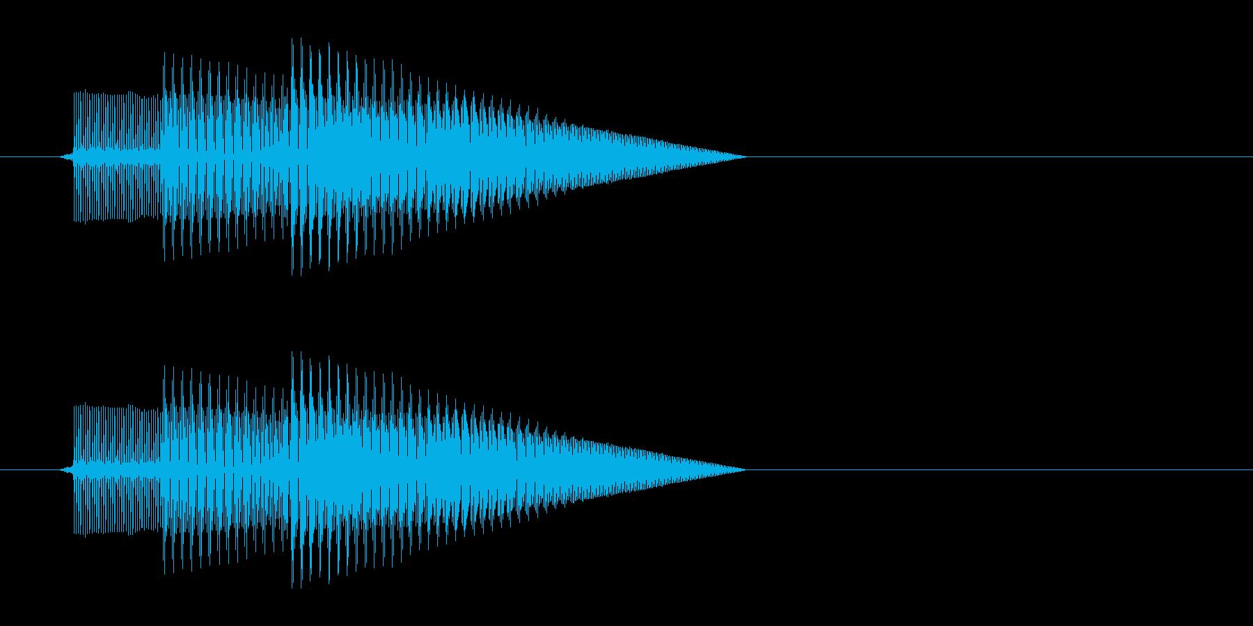 テレレッ↑(アイテム取得、8bit)の再生済みの波形
