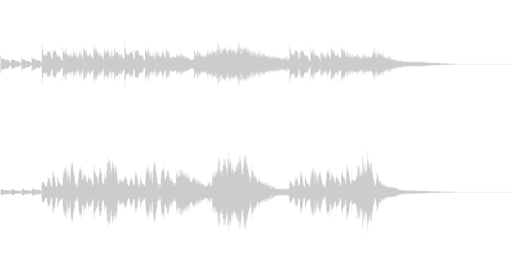 CM、BGM用にピアノと鉄琴apple風の未再生の波形