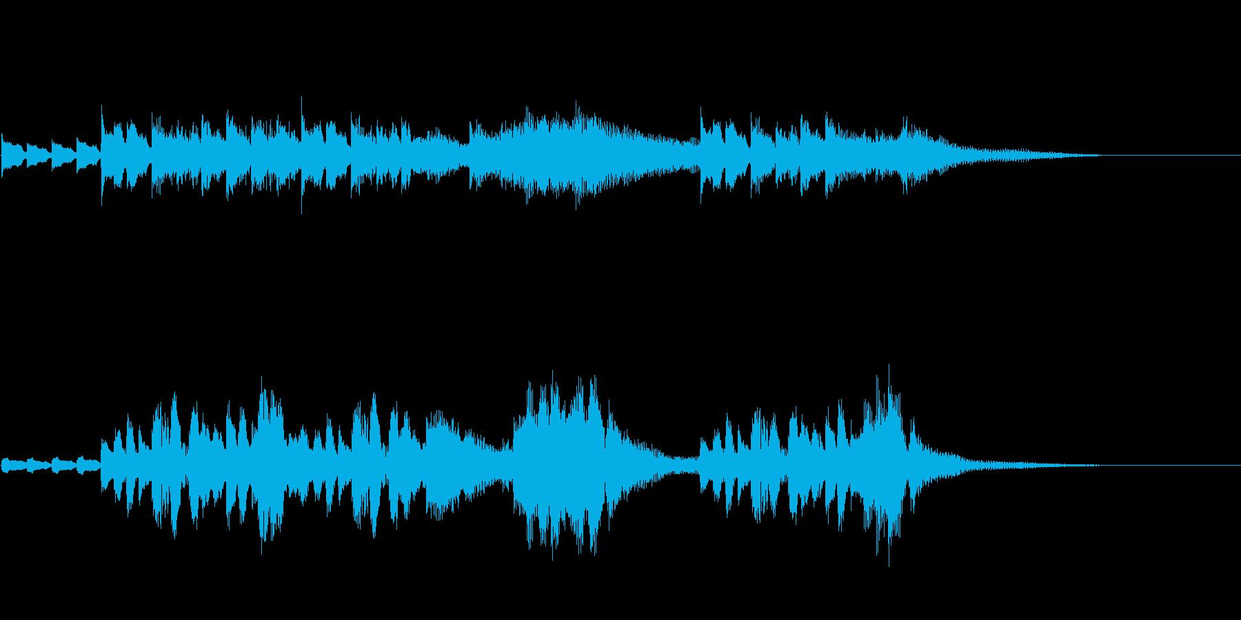 CM、BGM用にピアノと鉄琴apple風の再生済みの波形