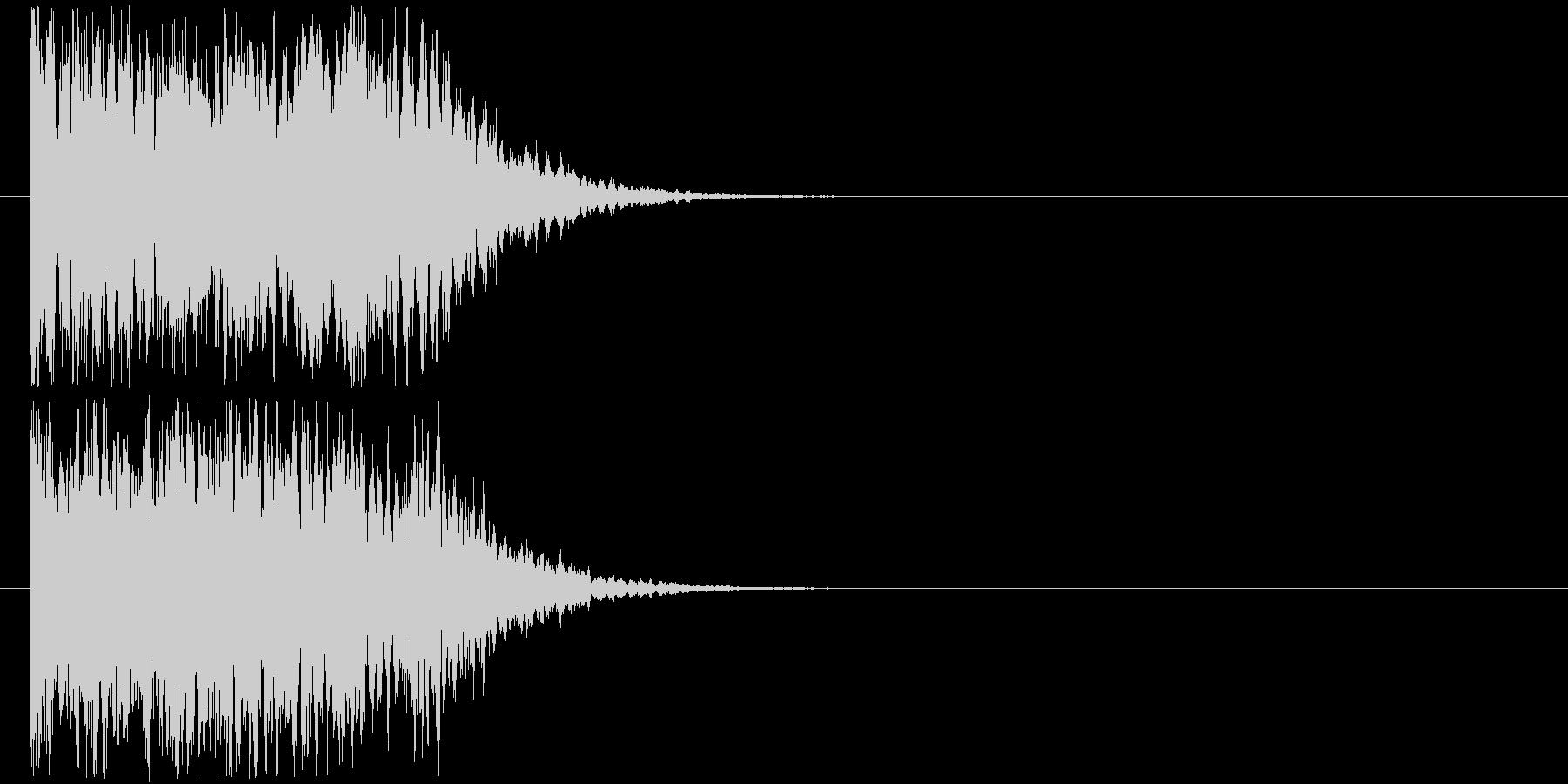 カキーンなインパクトSEの未再生の波形