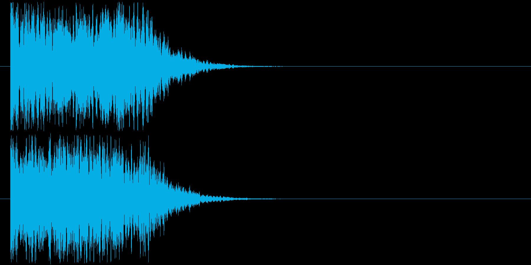 カキーンなインパクトSEの再生済みの波形