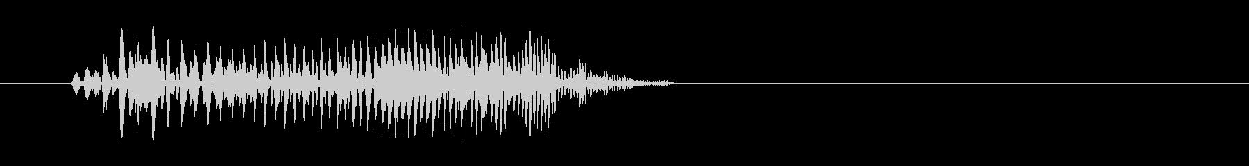 チューン(ビーム音)の未再生の波形