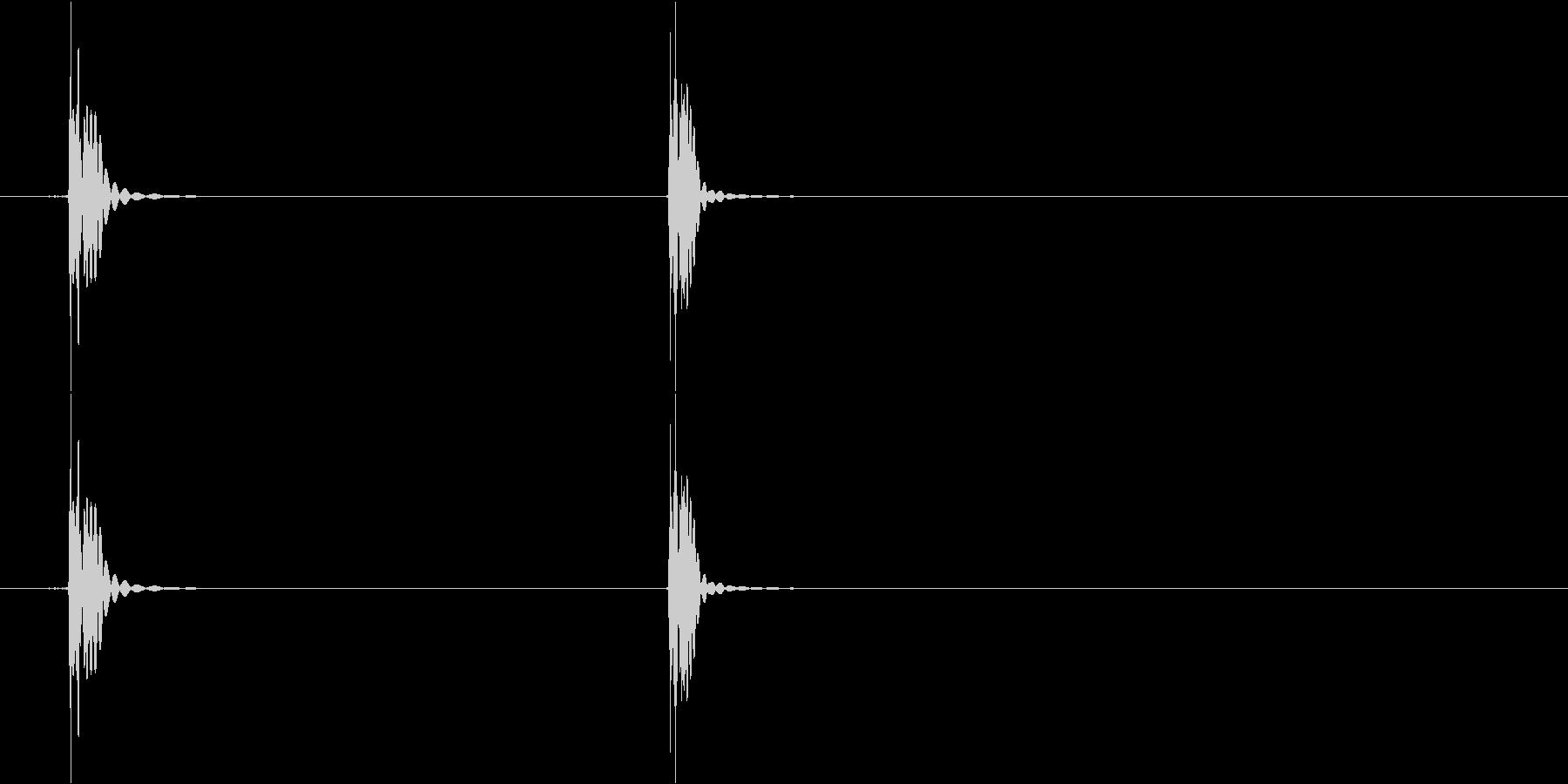 タットの未再生の波形