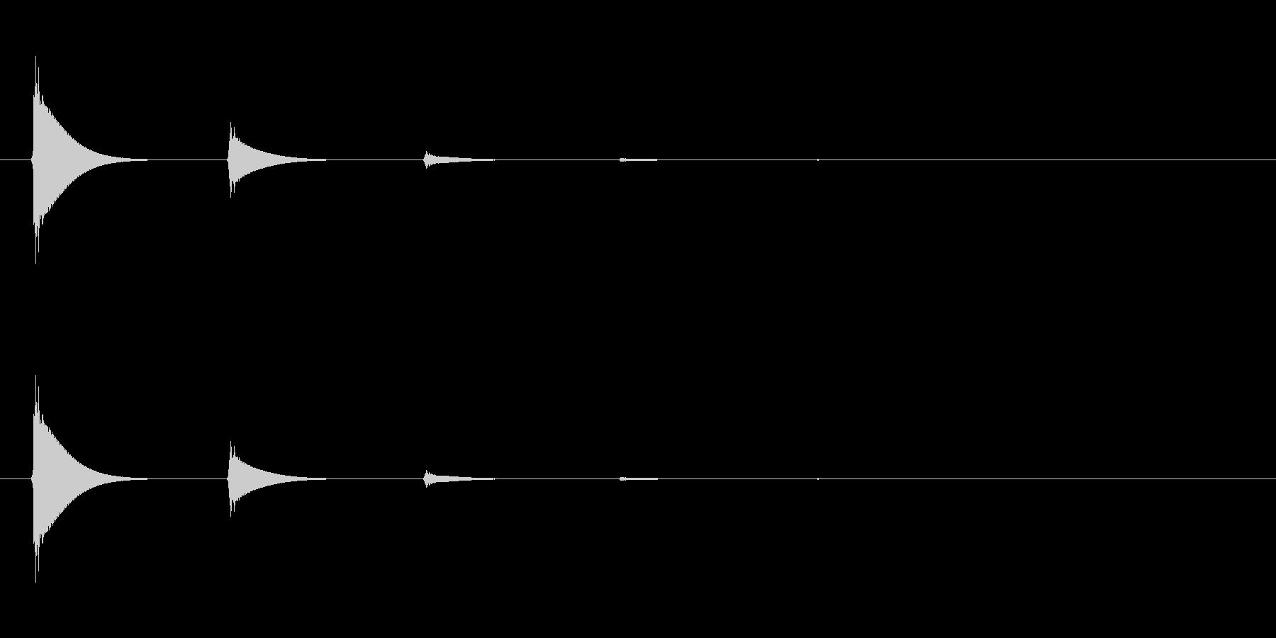 【アクセント06-2】の未再生の波形