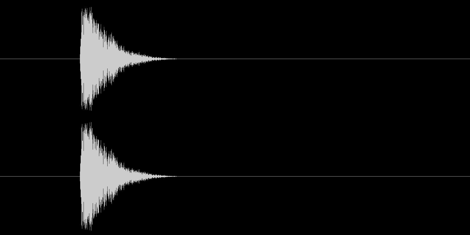 ジャン!懐かしのオケヒその2_音程高めの未再生の波形