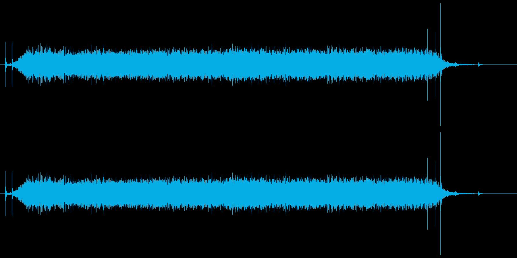 ガーの再生済みの波形