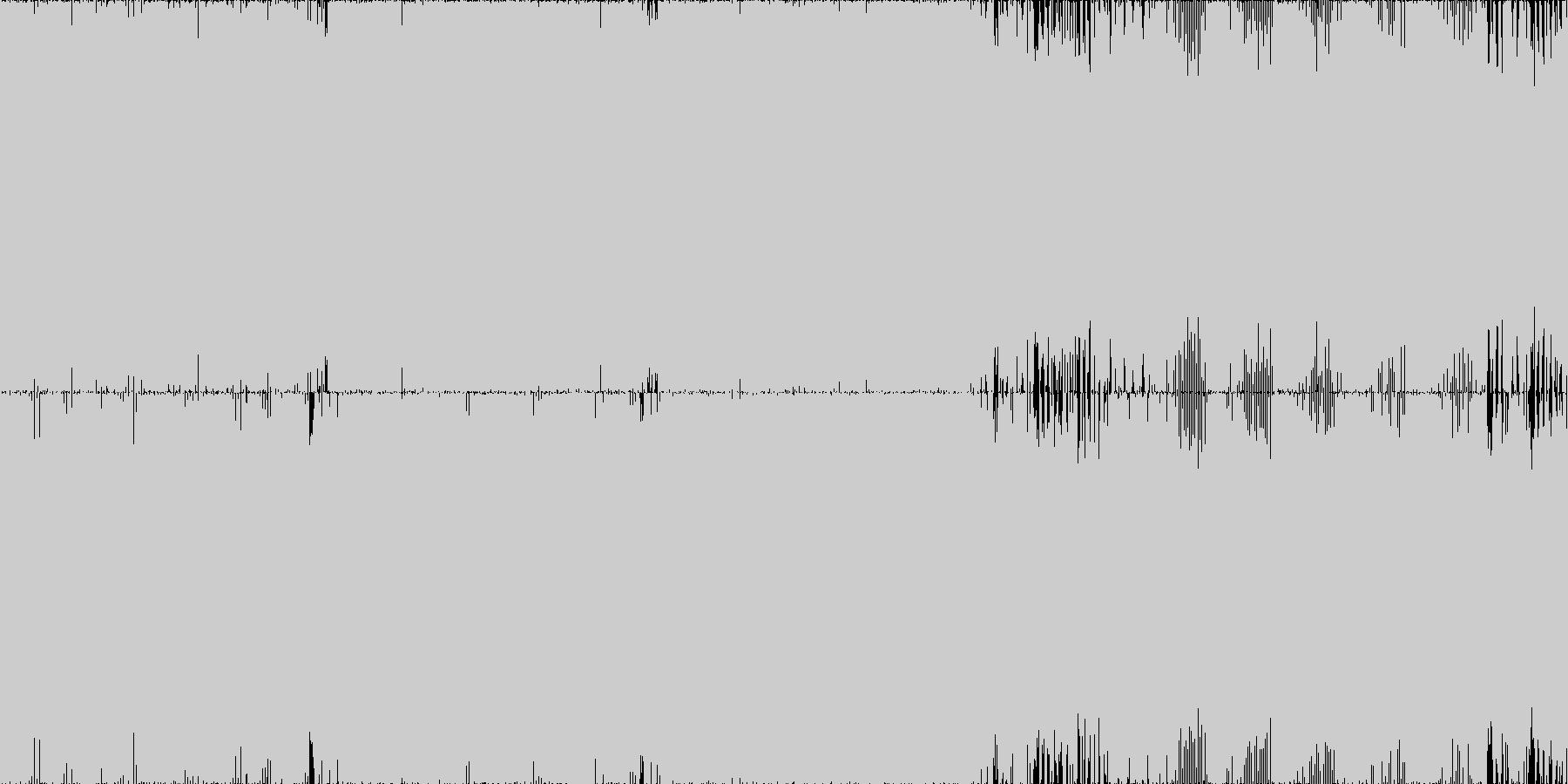 サイバー・メタル・癖になるループ素材の未再生の波形