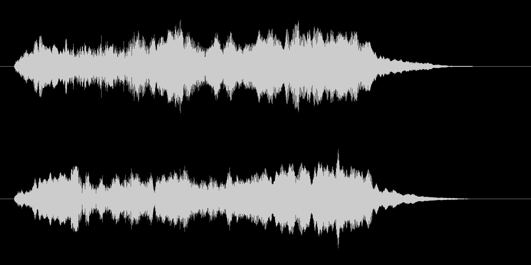 幻想的な神秘的なコーラス 高音版の未再生の波形