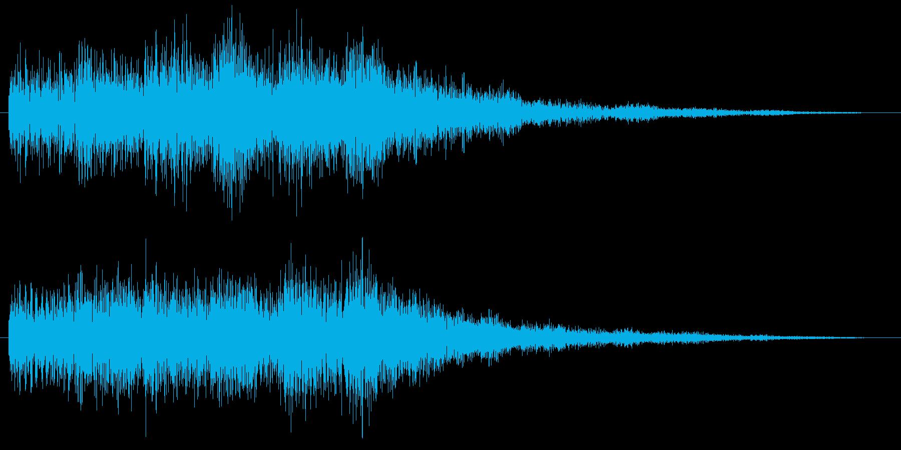 ミス 失敗 ゲームオーバー コミカルな音の再生済みの波形