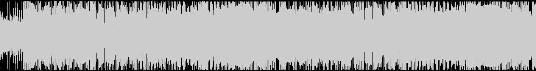攻撃的な雰囲気のヘヴィメタルインストの未再生の波形