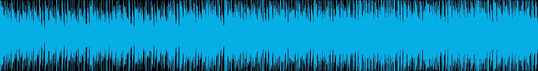 少しダークなテクノ風、アプリなどにの再生済みの波形