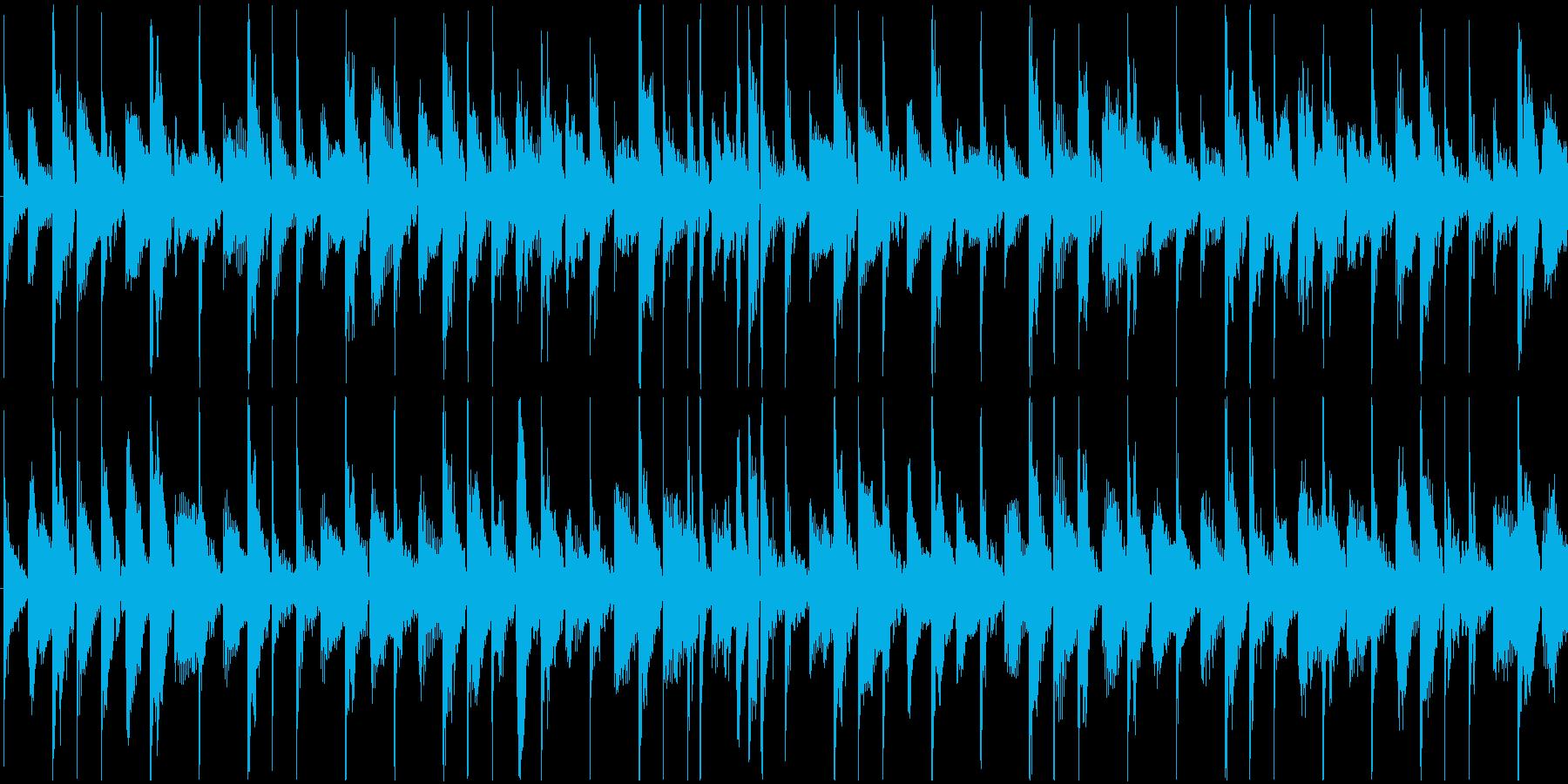 シンセとドラムだけの14秒の曲です。メ…の再生済みの波形