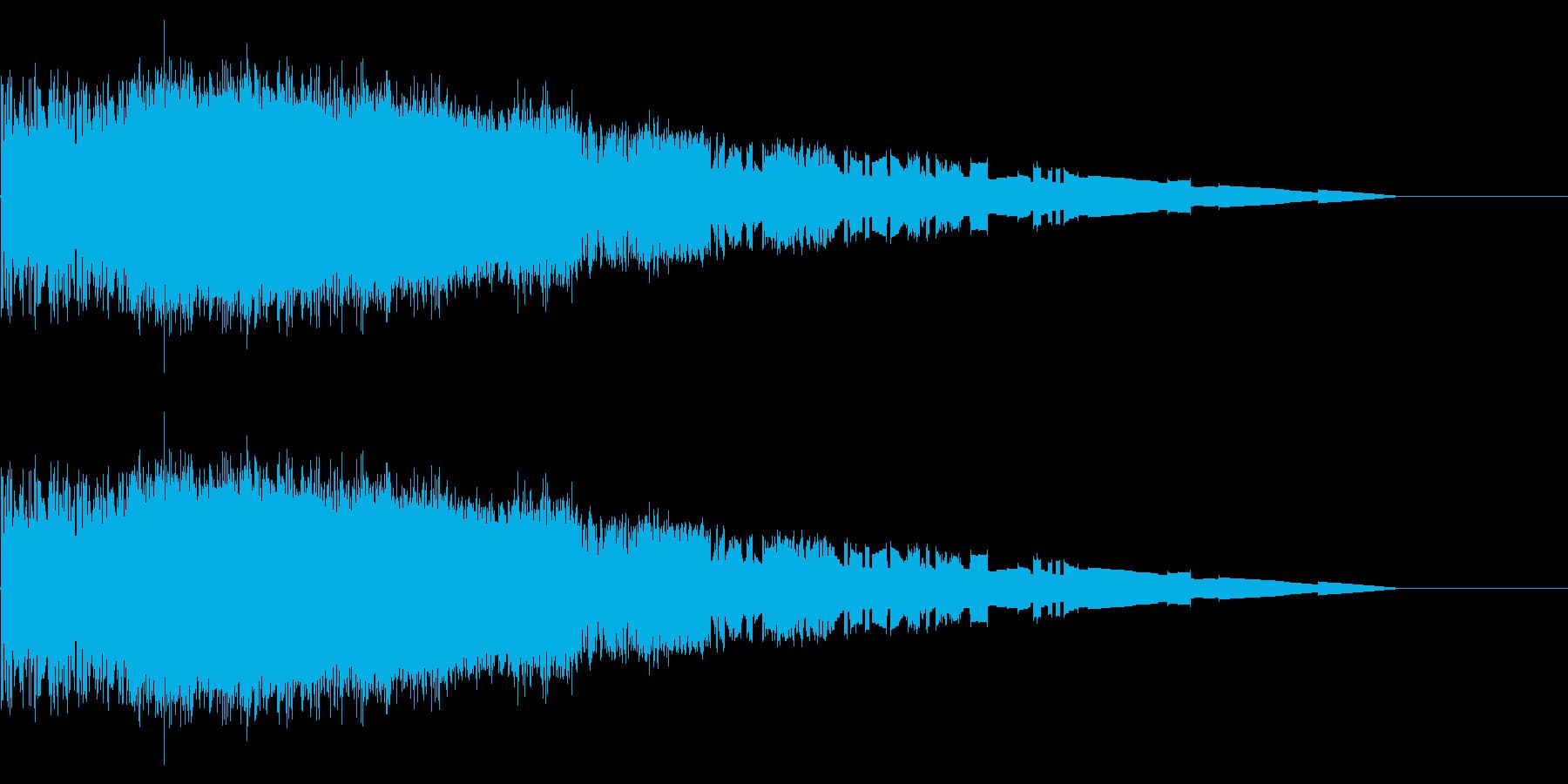レトロゲーム風魔法・炎系2の再生済みの波形