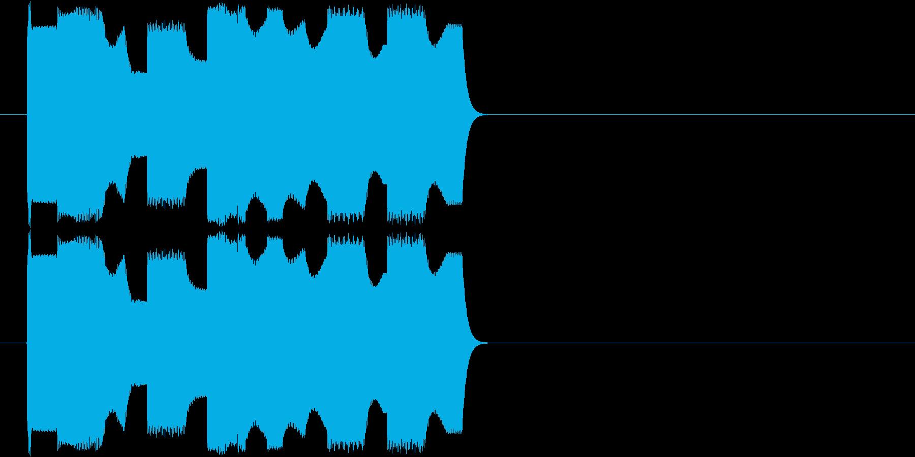 スマホや携帯電話のシンプルな着信音ですの再生済みの波形