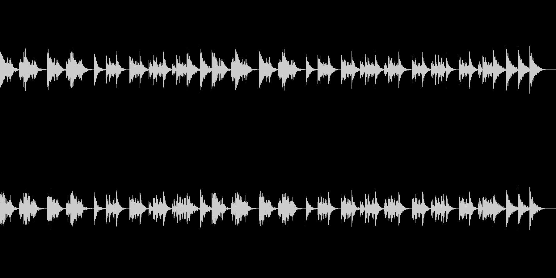 静かなポップスメロディのオルゴールBGMの未再生の波形