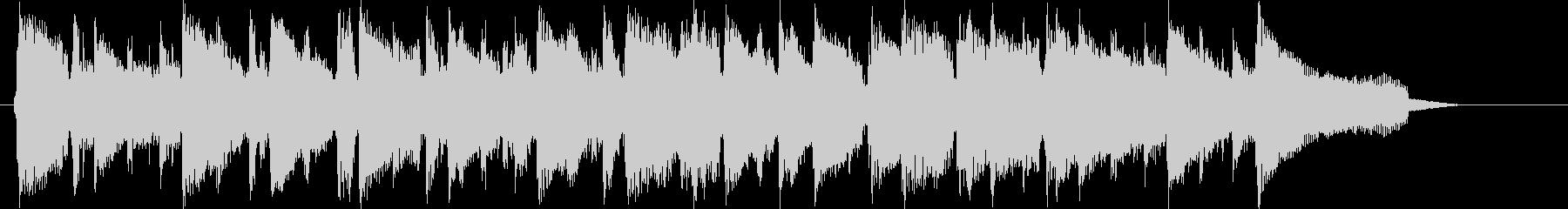 高音の小気味好いリズムの短めの曲の未再生の波形