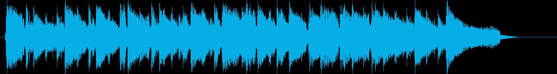 高音の小気味好いリズムの短めの曲の再生済みの波形