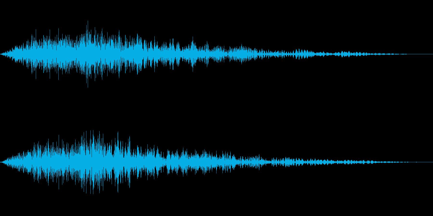 シンプルなキャンセル音です。の再生済みの波形