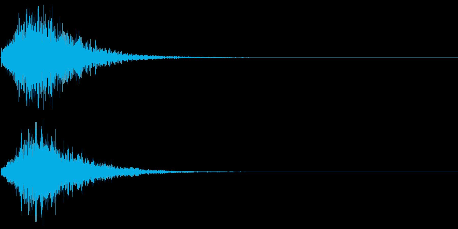 ゲームスタート、決定、ボタン音-082の再生済みの波形