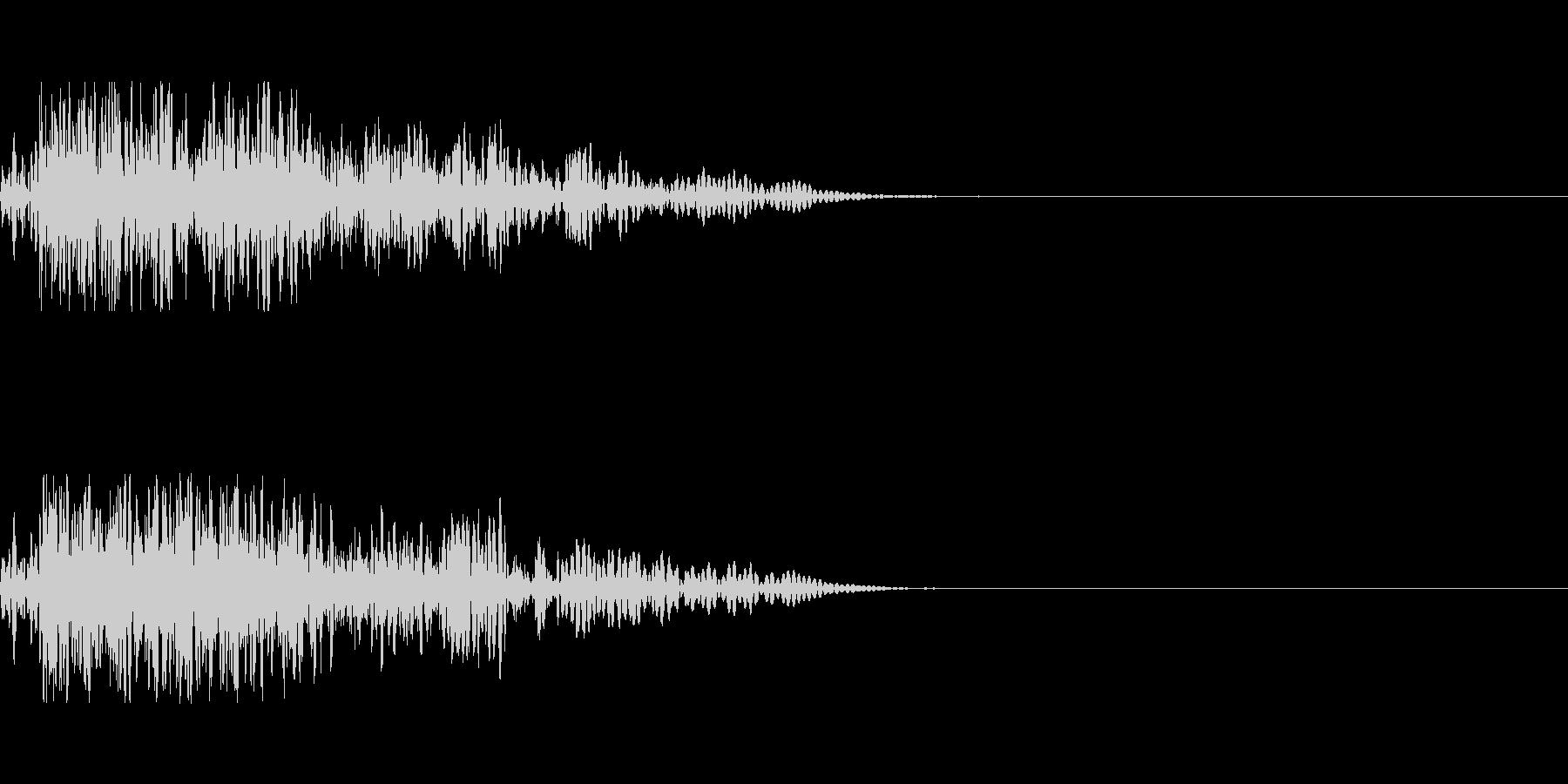 シンプルな爆発音の未再生の波形