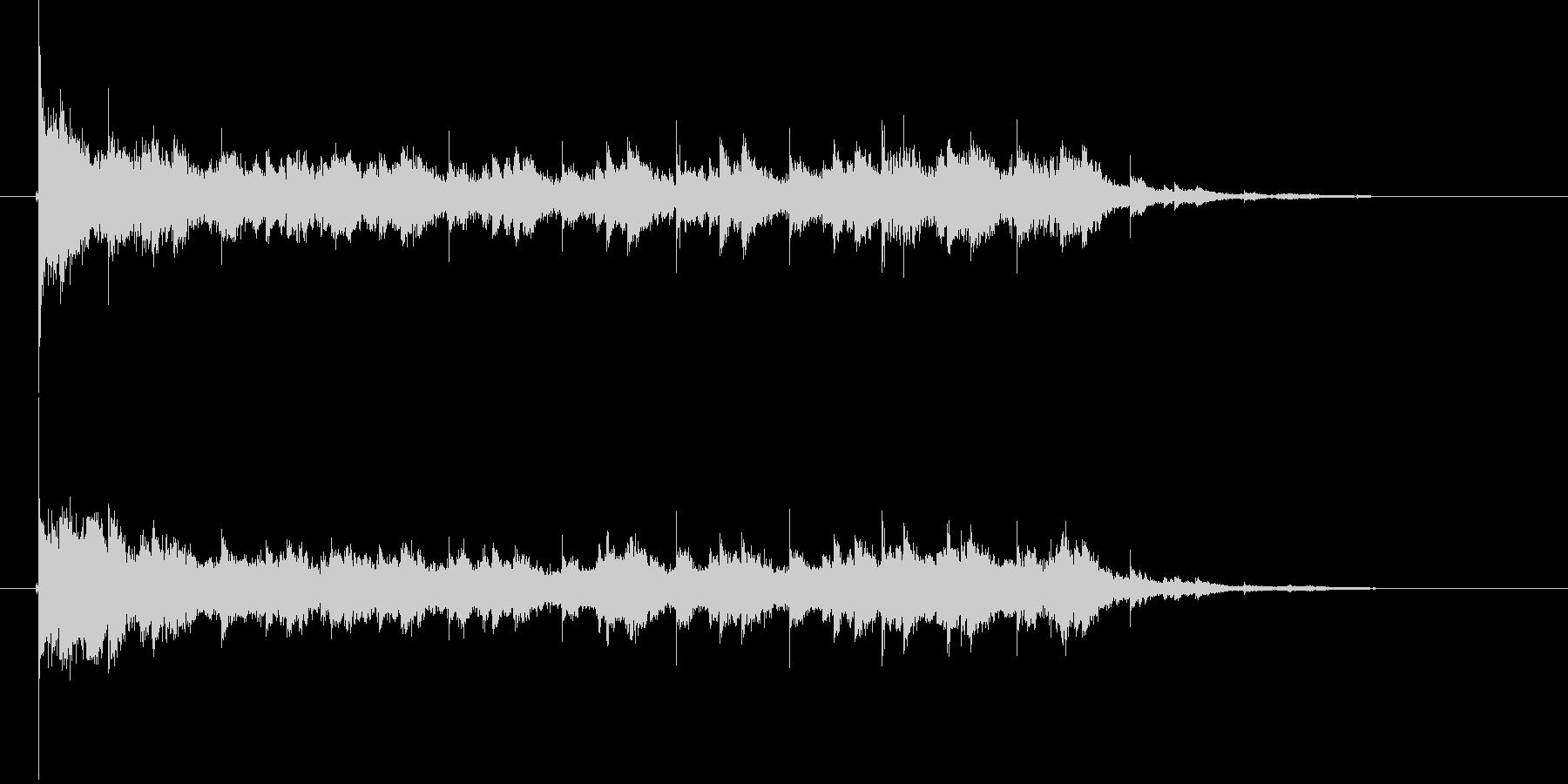 チャラララン(金属音、鐘)の未再生の波形