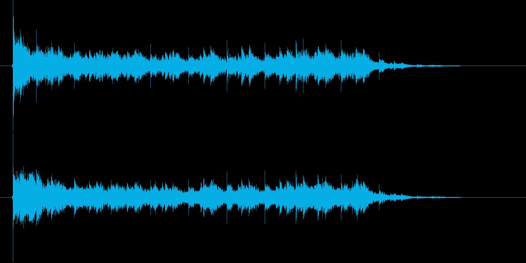 チャラララン(金属音、鐘)の再生済みの波形