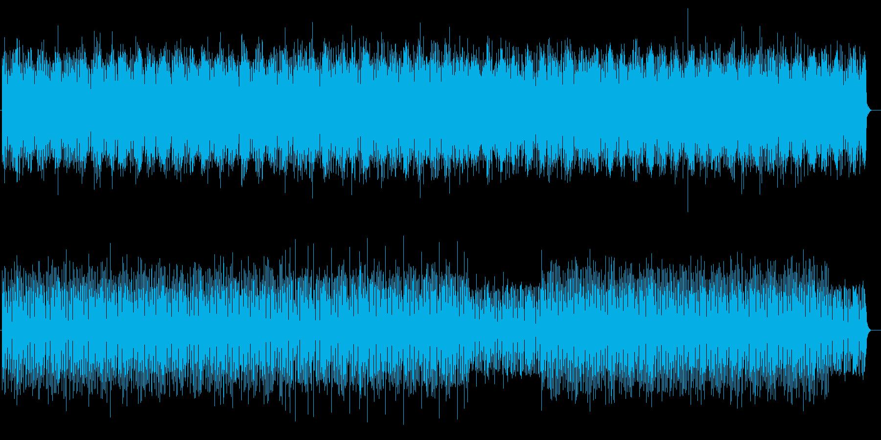 シリアスなギター・シンセなどのサウンドの再生済みの波形