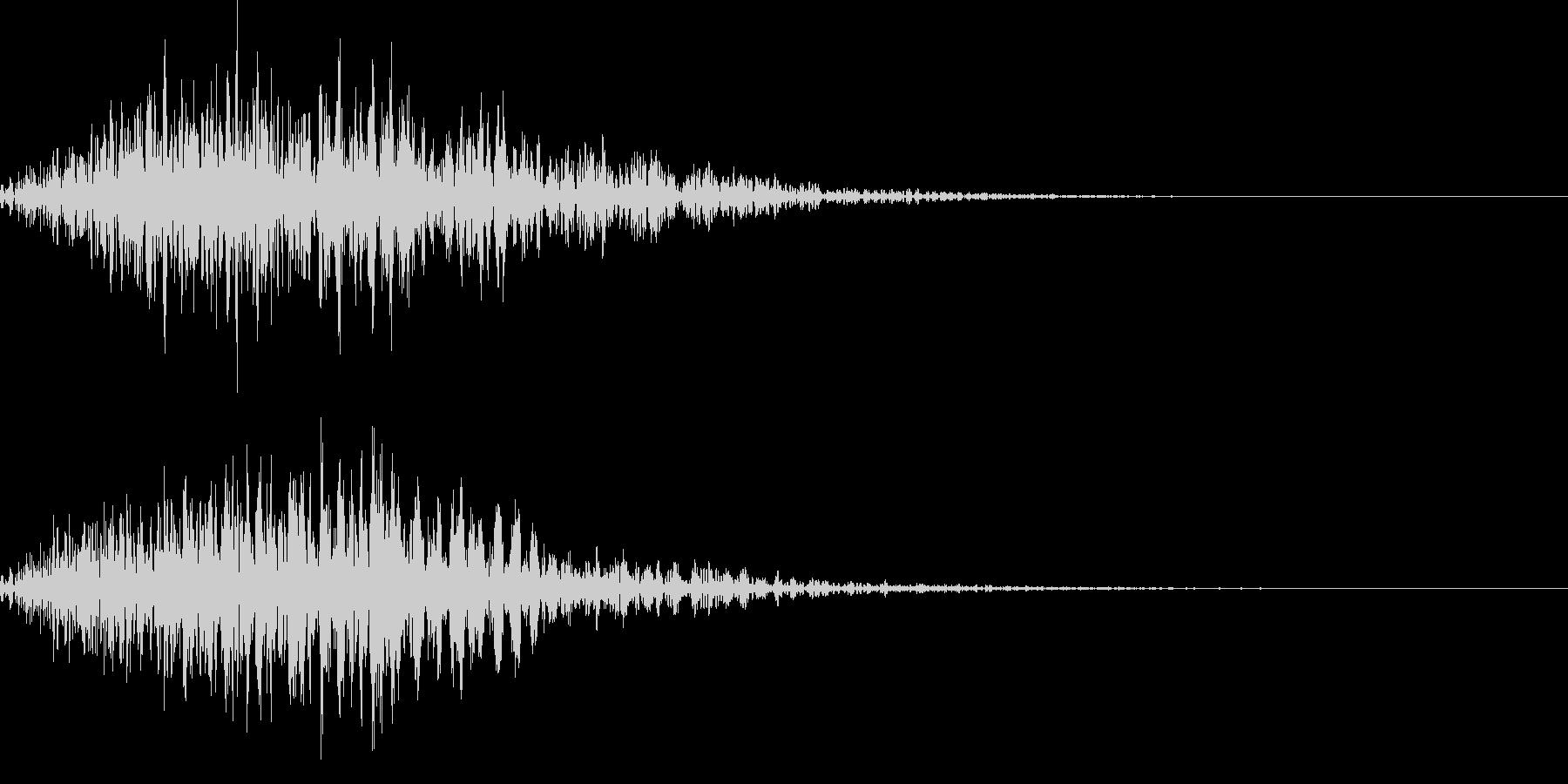 電子音_選択キャンセル音の未再生の波形