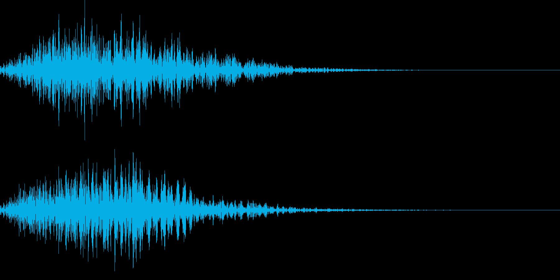 電子音_選択キャンセル音の再生済みの波形