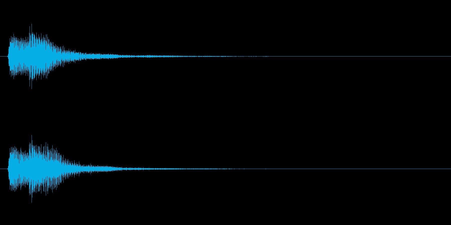 アプリ・ゲームの決定音_005の再生済みの波形