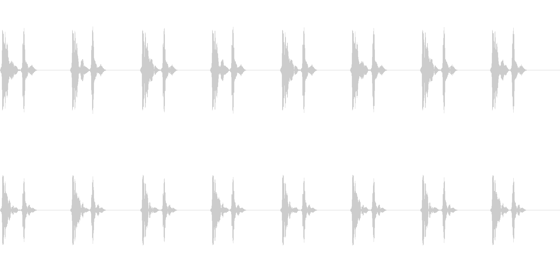心臓の鼓動音_その4の未再生の波形