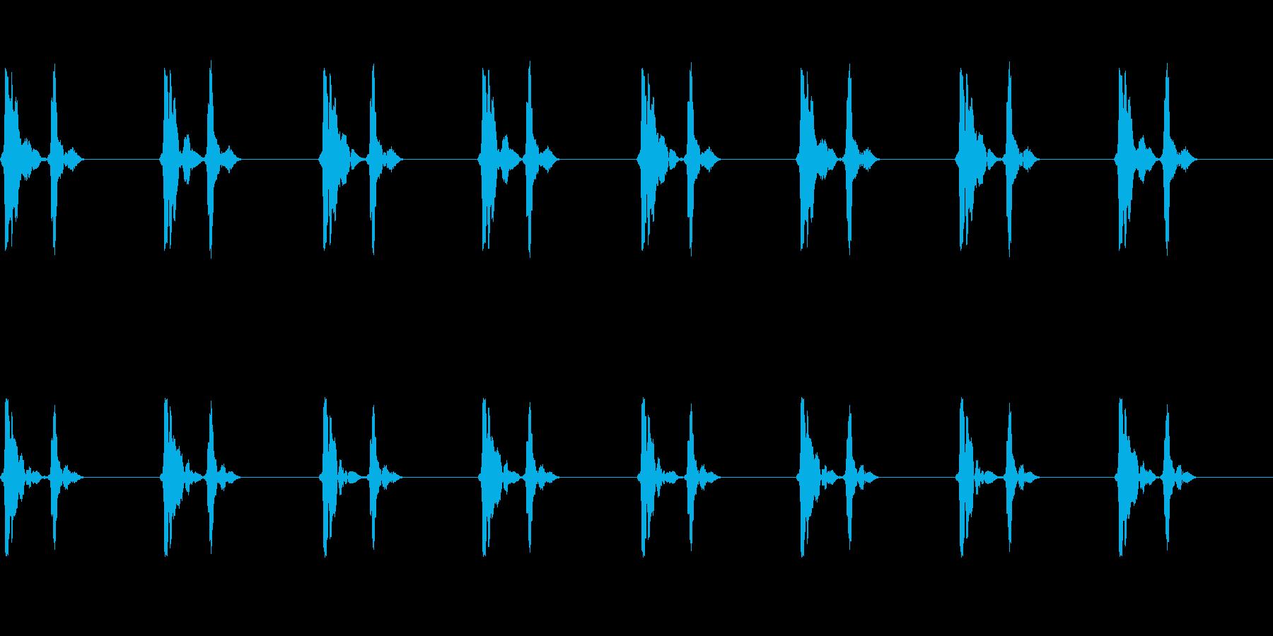 心臓の鼓動音_その4の再生済みの波形