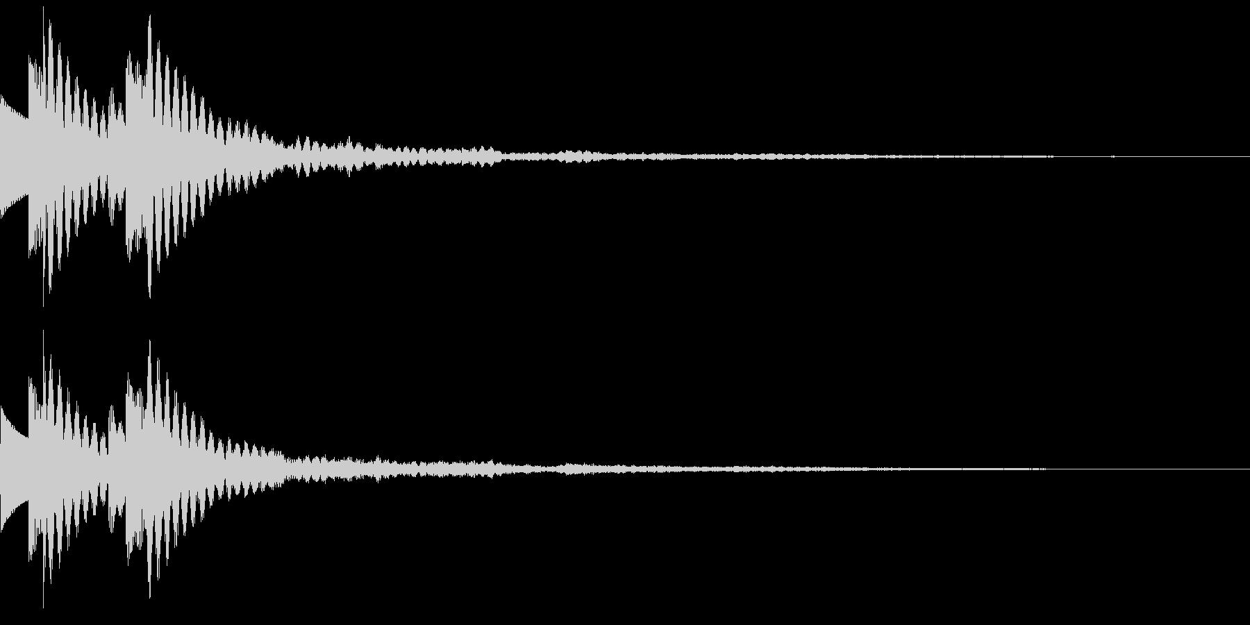 木琴 SE03の未再生の波形