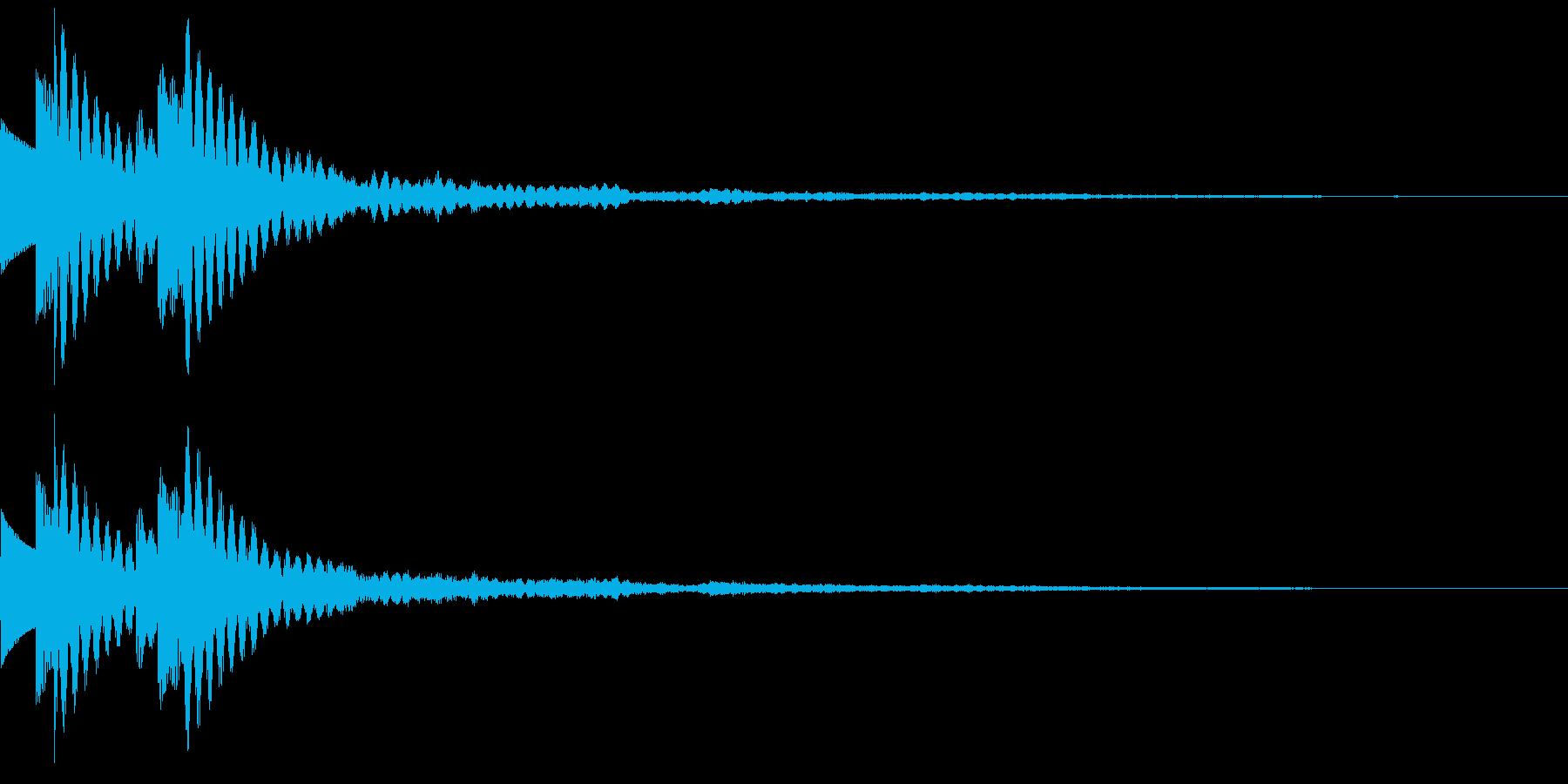 木琴 SE03の再生済みの波形
