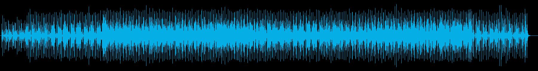 ギターカッティングが軽快でポップな楽曲の再生済みの波形