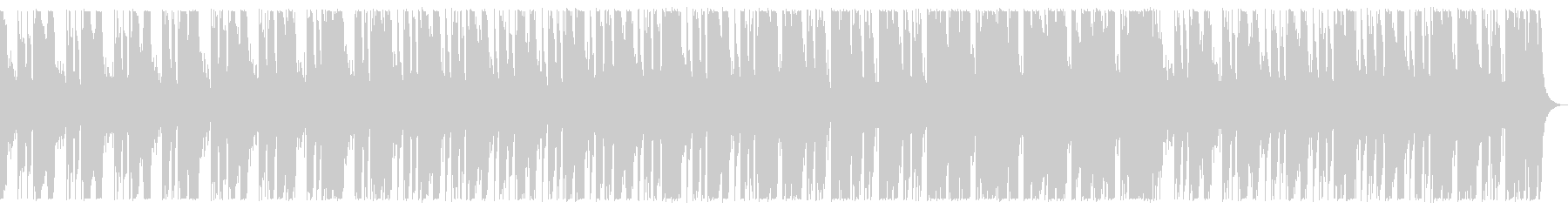 ベースとドラム中心のダークなBGMの未再生の波形