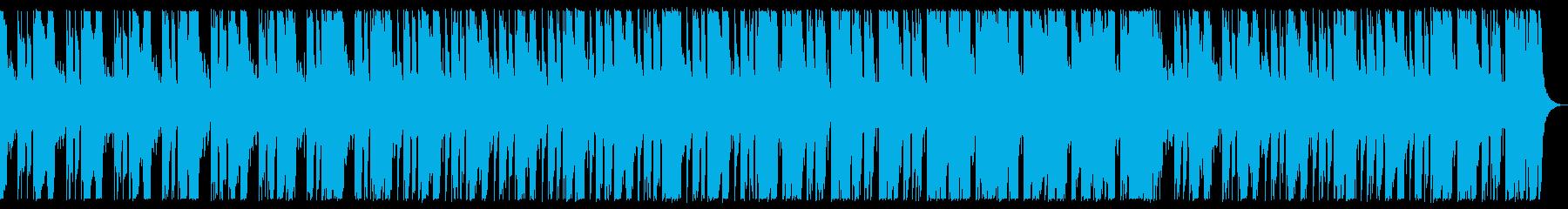 ベースとドラム中心のダークなBGMの再生済みの波形