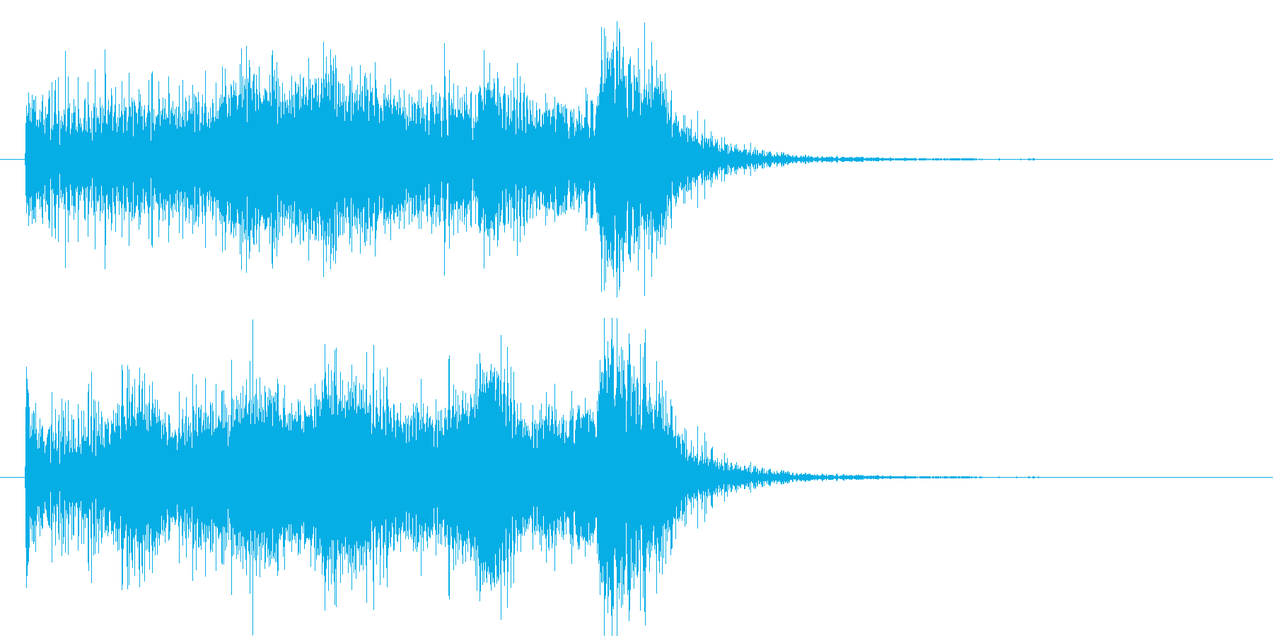 吹奏楽ゲームレベルアップファンファーレの再生済みの波形