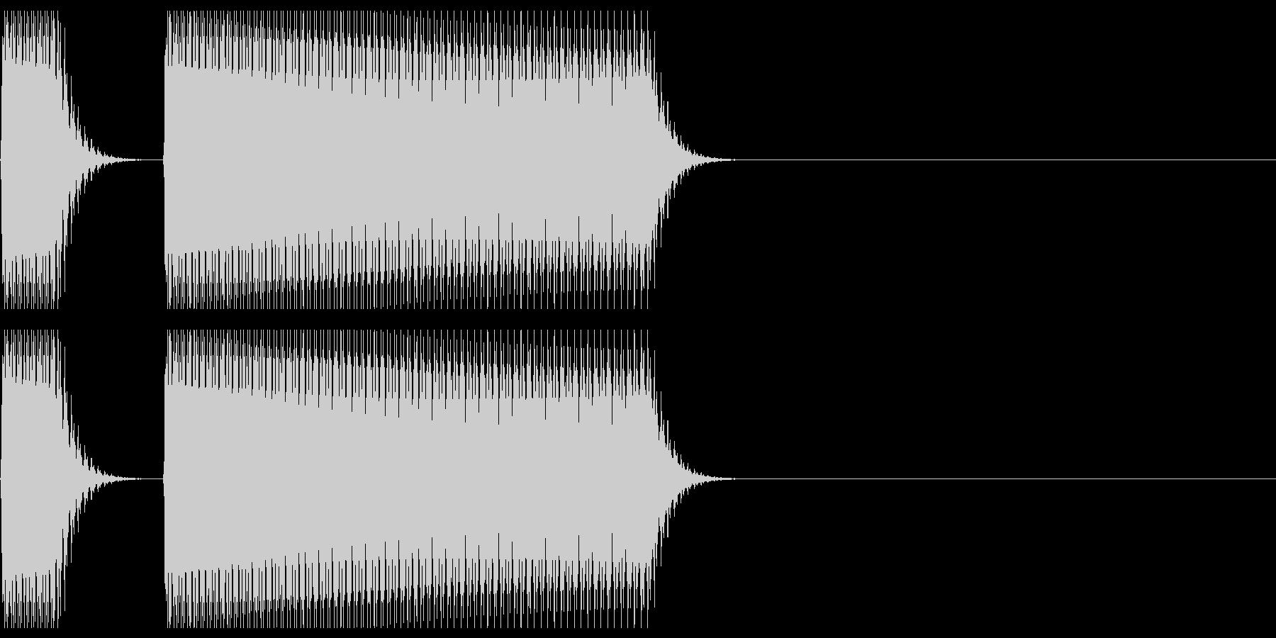 不正解、間違いの音02の未再生の波形