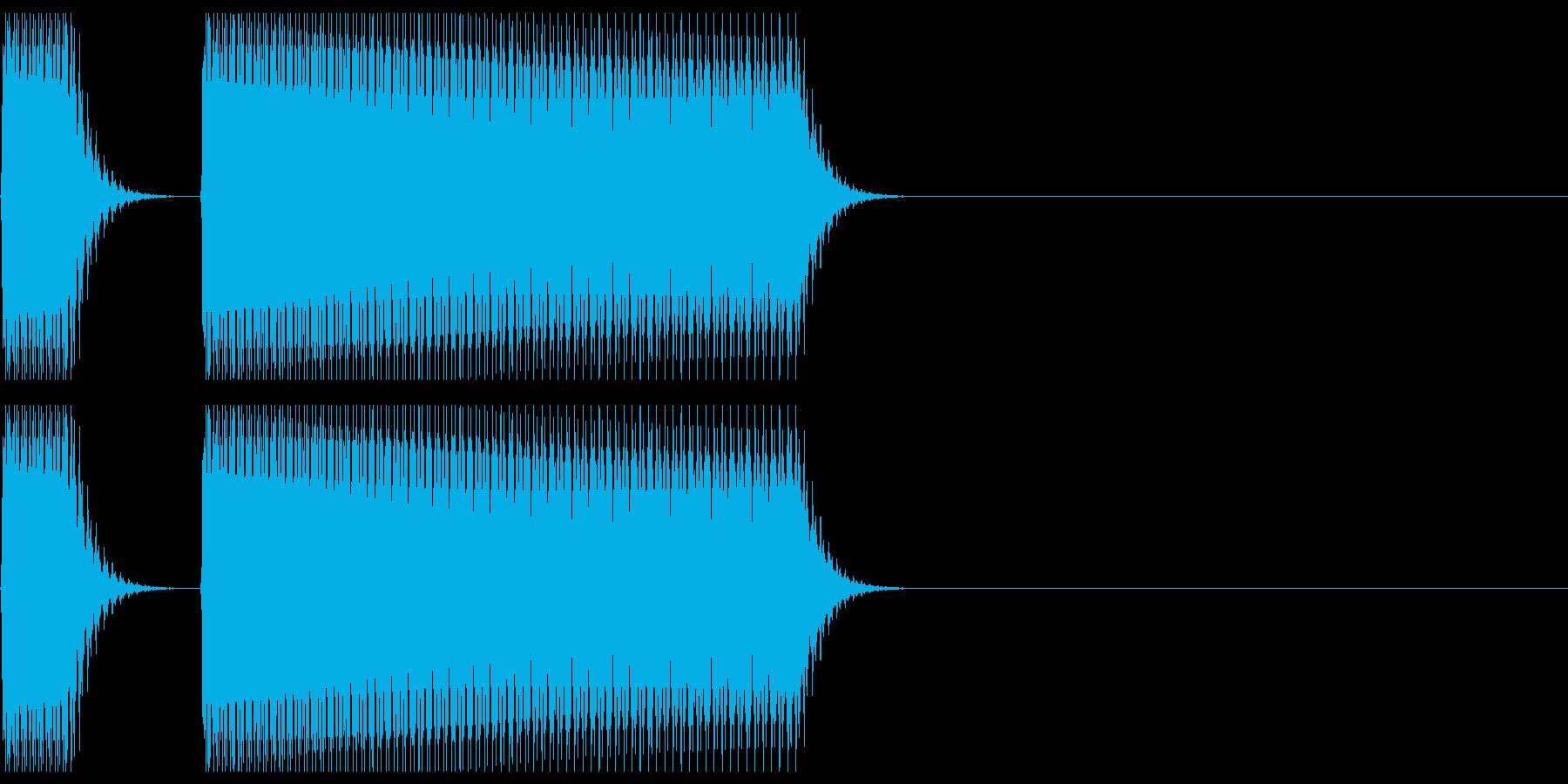 不正解、間違いの音02の再生済みの波形