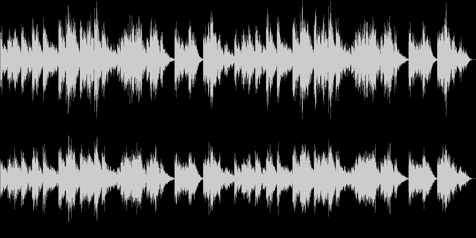 きらきら感のシンセサイザーサウンドの未再生の波形