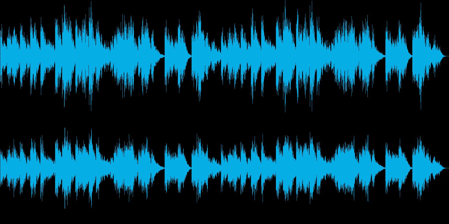 きらきら感のシンセサイザーサウンドの再生済みの波形